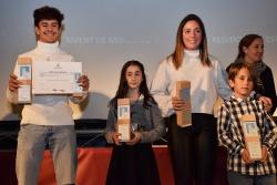 Premi a millors esportistes: Erik Ávila (Scooter Freestyle), Laia Rodríguez (Club Ciclista Montornès), Naiara Moreno (Karate Montornès) i Alex Villa (Escacs Montornès)