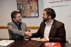 L'alcalde, José A. Montero i el delegat del Govern, Juli Fernández
