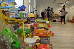 Imatge de la recollida de joguines de la campanya 2017
