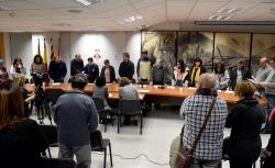 Lectura de la declaració per part de la regidora de Polítiques d'Igualtat, Mar García Martos