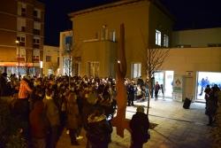 Concentració contra les violències masclistes convocada per la Taula per la Igualtat
