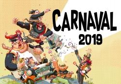 La imatge del Carnaval 2019, obra de l'il·lustrador Eduard Valls