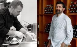 Els cuiners Toni Romero (esquerre) i Francesc Rovira
