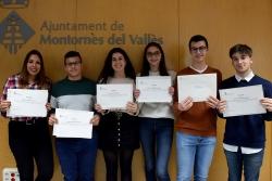 Una part dels premiats en la convocatòria del curs 2017-2018