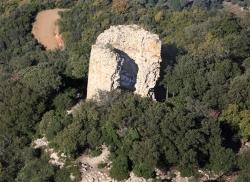 Vista aèria del castell de Sant Miquel (Imatge AMMV)