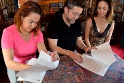 Signatura del conveni entre l'Ajuntament i el Circ Raluy