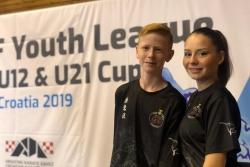 Teresa López i Bernat Vilà en l'Open Youth League (Foto: Club Karate Montornès)