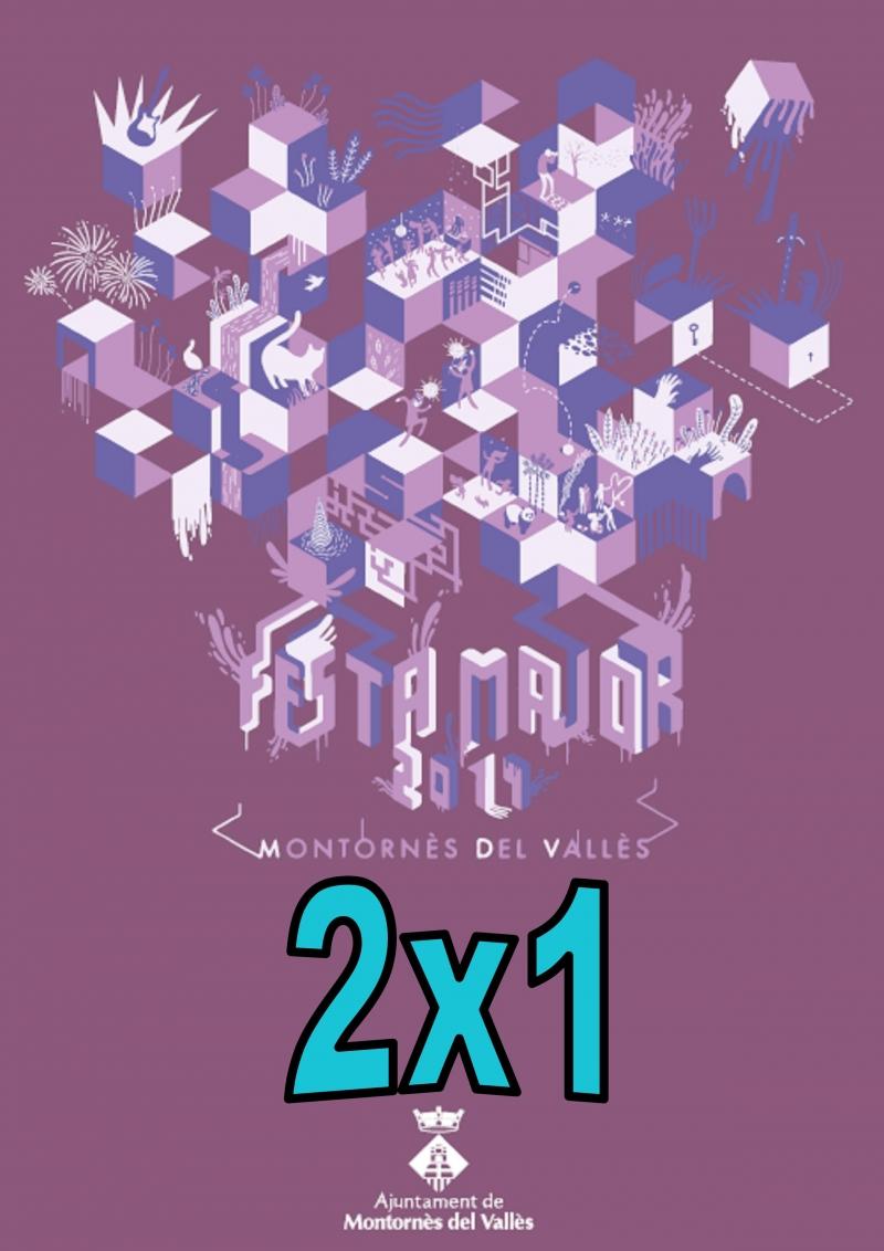 Cartell identificador de la promoció 2x1