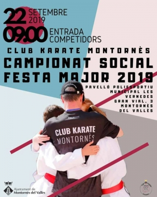Cartell del Campionat Social de Karate de Festa Major 2019