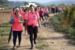 Caminada contra el càncer de mama pels voltants del poble