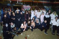 Imatge de grup en acabar el Túnel del terror 2019