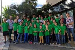 L'expedició montornesenca en el Campionat de Catalunya d'Edats per equips (Foto: Club d'Escacs Montornès)