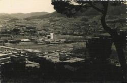 Zona industrial des del turó de les Tres Creus. Dècades dels 60 i dels 70 del segle XX. Postal edicions Ollé. Cedida per en Josep Saborit.