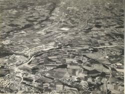 Vista aèria de Montornès. Dècada dels 70 del segle XX.