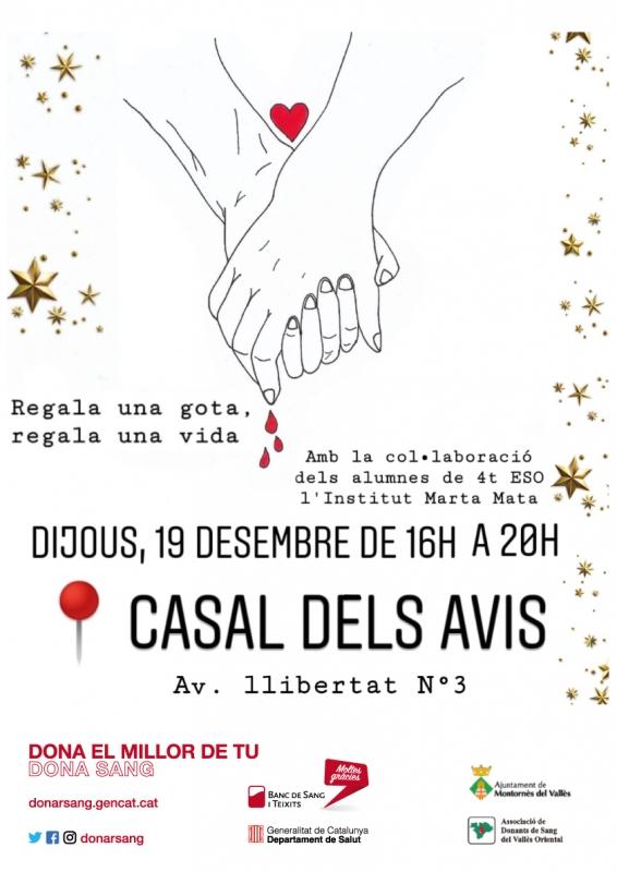 Cartell dissenyat per l'alumnat de l'Institut Marta Mata