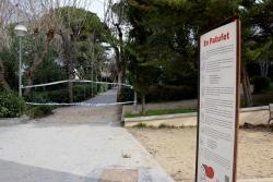 Accés al parc dels Castanyers