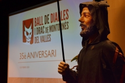El Banyetes a la presentació dels 35è aniversari de la Colla de Drac i Diables de Montornès