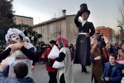 Dijous Gras - El Cavaller Gòdia i els 7 pecats, durant el seguici de Carnaval