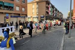 Inici de la rua de Carnaval a Montornès Nord