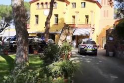 Visita de la Policia Local a la Residència Masia Alsina a començament d'aquest mes d'abril