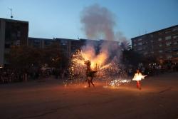 Espectacle de foc a la plaça