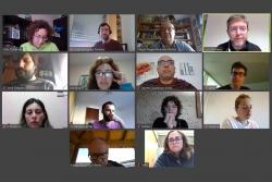 Captura de la Junta de Govern virtual del 8 d'abril