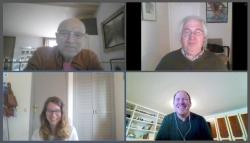Trobada virtual amb alguns participants en la tertúla del Voluntariat per la Llengua