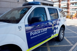 Un dels vehicles de la Policia Local