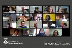 Ple telemàtic de l'Ajuntament de Montornès (Captura de la sessió del 7 de maig de 2020)