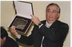 L'exalcalde, José Maria Ruiz Alarcón, en la sessió plenària de renunciar al seu càrrec l'11 de gener de 2003