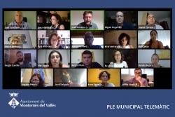 Ple telemàtic de l'Ajuntament de Montornès (Captura de la sessió del 2 de juliol de 2020)