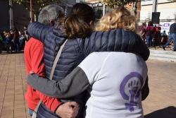 Un moment de l'acte del Dia Internacional contra la Violència Masclista de l'any passat a Montornès