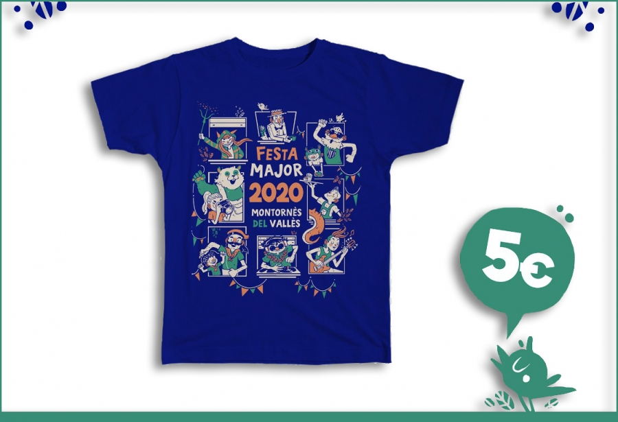 La samarreta de la Festa Major 2020 és un disseny de l'il·lustrador local Edu Valls.