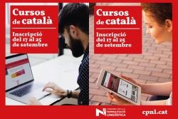 Cartell dels cursos de català per a adults 2020