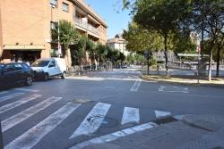 Cruïlla entre el carrer Major i la rambla de Sant Sadurní