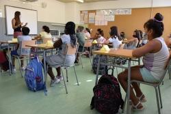 Una de les classes de l'Escola Mogent