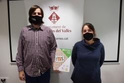 El regidor d'Ocupació, Promoció Econòmica i Comerç, Jordi Delgado, i la tècnica de l'Ateneu Cooperatiu del Vallès Oriental María Martínez