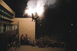 Cremada de l'Ajuntament a l'inici de la Festa Major