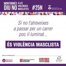 Material de la campanya Montornès diu No a la violència masclista