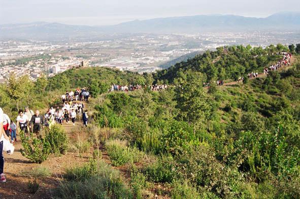 Passejada per la Serralada Litoral amb la torre del Telègraf al fons