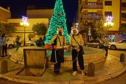 Els dos patges han estat els encarregats d'encendre els llums de Nadal