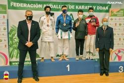 Usama Karach al podi de la Lliga Nacional de Karate (imatge: RFEK)