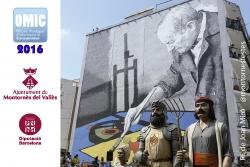 Calendari de 2016, amb els gegants a la plaça de Joan Miró