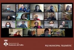 Un moment del Ple ordinari telemàtic del mes de febrer