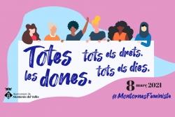 """Imatge de la campanya """"Totes les dones, tots els drets, tots els dies"""", del 8M 2021"""