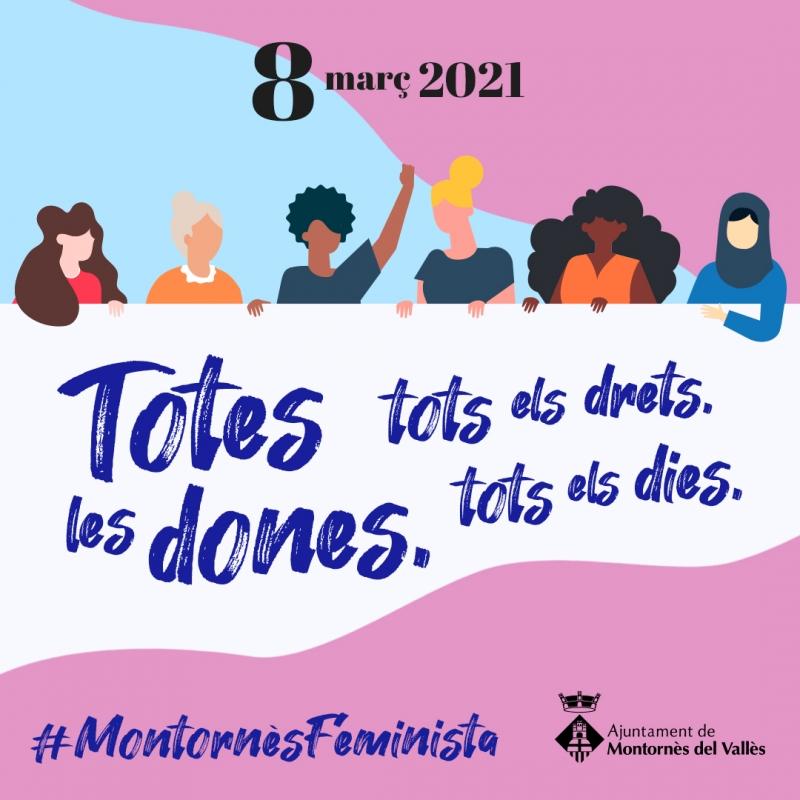 Imatge de la campanya del 8M 2021.