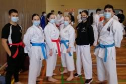 Esportistes del Club Karate Montornès al Campionat de Catalunya Sènior a Sant Celoni (imatge: CK Montornès)