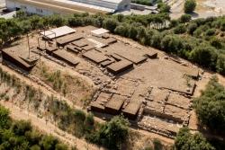 Vista aèria del jaciment (Imatge facilitada per l'Estudi d'Arquitectura Toni Gironès)