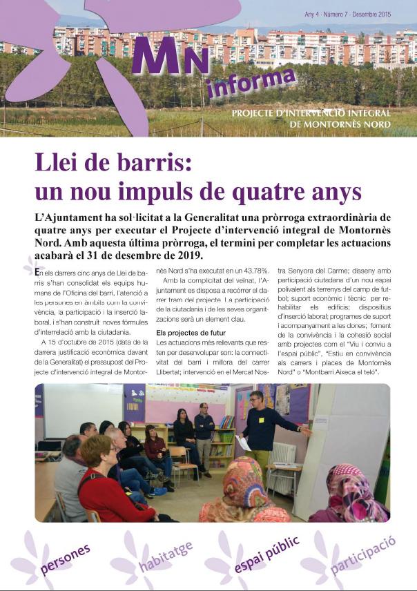 MN Informa - Número 7 - Desembre 2015