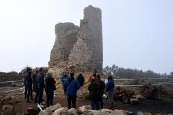 Visita institucional als treballs realitzats al Castell de Sant Miquel (desembre de 2020)